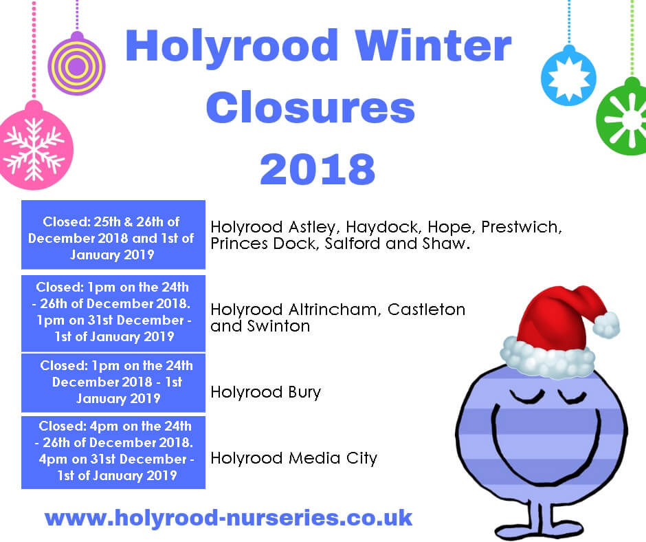 Holyrood Winter Closures 2018 Updated