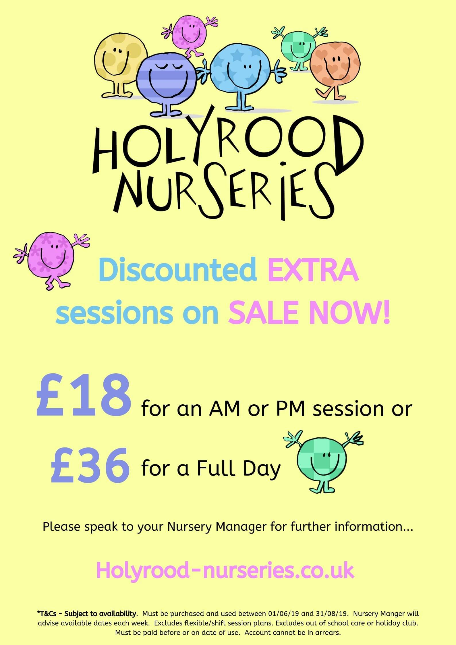 discounted session rates at salford nursery